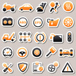Automotive Orange Stickers