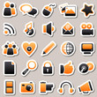 social Media Orange Stickers