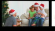 Montage of people opening their Christmas presents