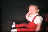 Baby Boy With Red Suspenders (1962 Vintage 8mm film)