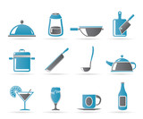 Restaurant, cafe, food and drink icons - vector icon set