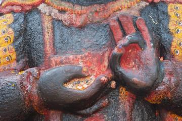 Kala Bhairava, deity of Newars, Durbar Square, Kathmandu, Nepal