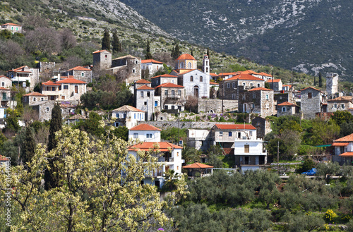 Traditional village of Thalames at Mani, Greece