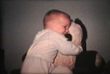 Little Boy Hugging Panda Bear (1963 - Vintage 8mm film)