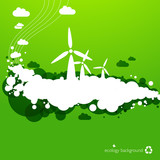 wind energy background - ecology illustration