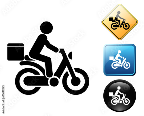 Delivery pictogram and signs