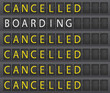Airporttafel Cancelled - 31655070