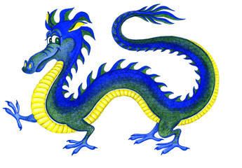 Веселый водяной дракон - символ 2012 года