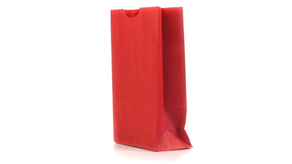 Red shopping bag turning on itself