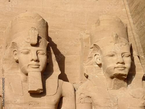Papiers peints Egypte Statues de pharaons
