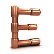 3d Copper tubing letter - E