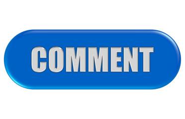 Button blau Seiten rund COMMENT
