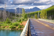 Scenic drive through glacier national park in Wyoming