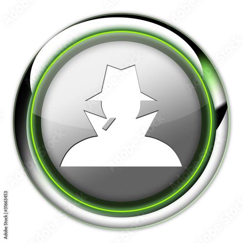 """Futuristic Button """"Spy / Investigator"""""""
