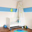 Baby nursery with bed