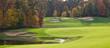Leinwanddruck Bild - Golf Course in the Autumn