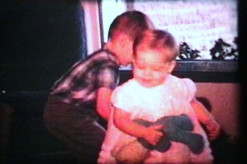 Little Girl Not Interested In Presents (1966 - Vintage 8mm film)