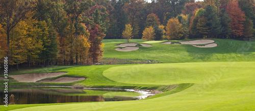 Leinwanddruck Bild Golf Course in the Autumn