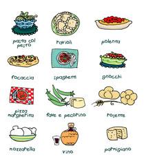 Cibi tipici italiani