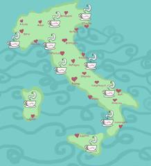Italia partia del caffè