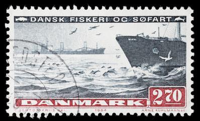Danish seafaring and fishing stamp