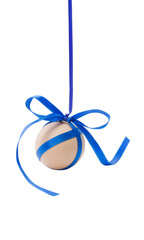 hanging egg with ribbon and bow