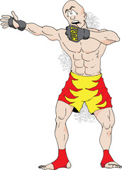 An illustration of a Mixed Martial Arts Fighter