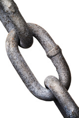 isolated metal chain link
