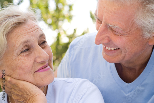 old couple resting