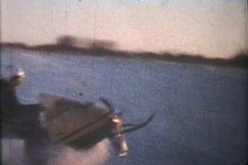 Snowmobiling At Dusk (1975 Vintage 8mm film)