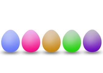 five colour eggs