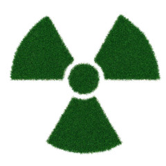 Radiation symbol from grass