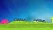 Green landscape blue sky ecology travelling panorama video
