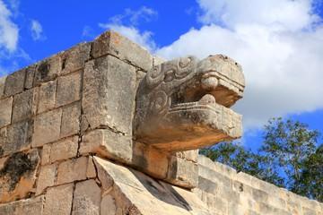 Chichen Itza snake Mayan ruins Mexico Yucatan