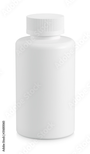 White plastic bottle cutout