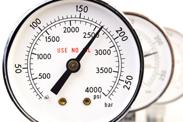 Close up of manometer