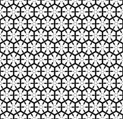 Seamless geometric pattern with hexagonal lattice.