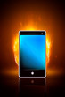 Smartphone on fire