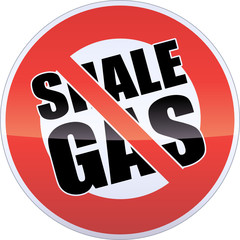 Shale Gas Banning Sign