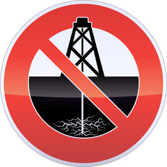 Drilling Fracturing Banning Sign
