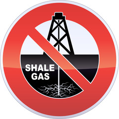 Shale Gas Drilling Fracturing Banning Sign
