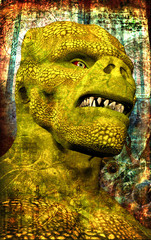 steampunk monster dinosaur