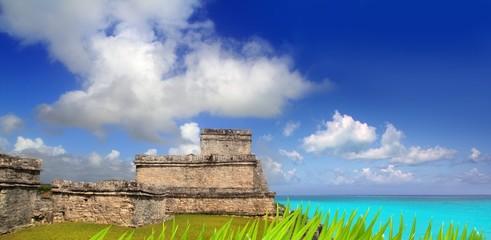 ancient Mayan ruins Tulum Caribbean turquoise