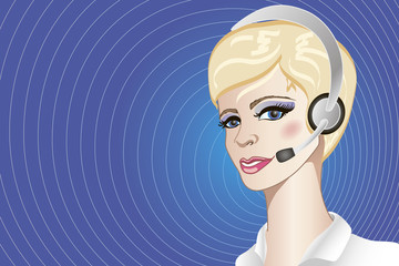 a call-center operator