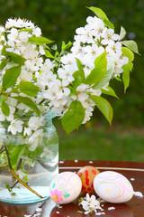 Ostereier,Kirschbaumblüten