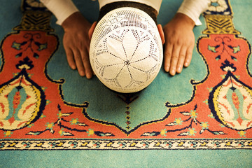 Praying people sajdah