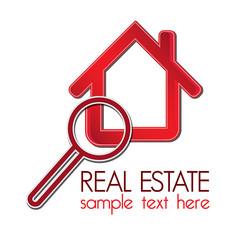 Real estate detectives company design elements