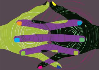 union touch. vector illustration