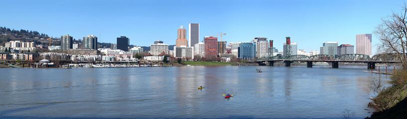 A panorama of Portland Oregon.