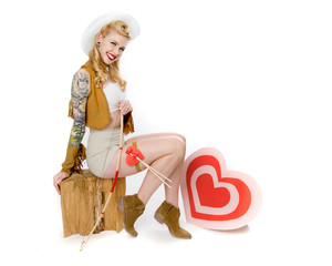 Pinup Model Cowgirl